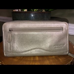 Tignanello Silver Leather Womens Wallet